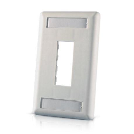 TracJack™ 1-Port Single Gang Plastic Faceplate
