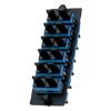 Fiber Adapter Panel with 6 SC Duplex Adapters, Blue Zirconia