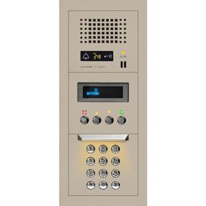 1x3 Modular Audio Entrance Station with Digital Directory