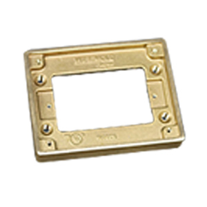 Legrand - Wiremold One Gang Brass Tile Flange