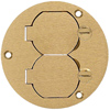 Round Floor Box Flush Duplex Cover Without Flange