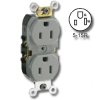 Smooth face Side wired 15A 125V Duplex Receptacle