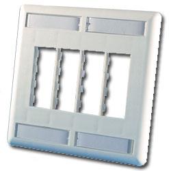Legrand - Ortronics TracJack™ Eight-Port Dual Gang Plastic Faceplate