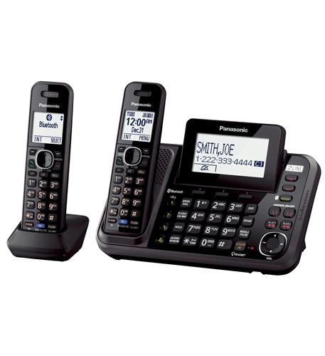 Panasonic DECT 6.0 Link2Cell 2-Line Phone with 2 Handsets
