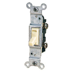 Leviton CO/ALR Side Wired Framed 3-Way Toggle