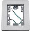 Rectangular Flat Flange, 1-Gang, Aluminum