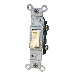Leviton Quickwire and Side Wired Framed Single-Pole Toggle Quiet Switch with Grounding Screw