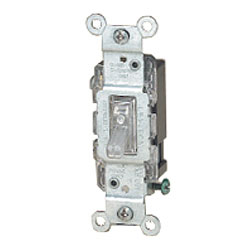 Leviton Quickwire and Side Wired Single-Pole Illuminated Toggle