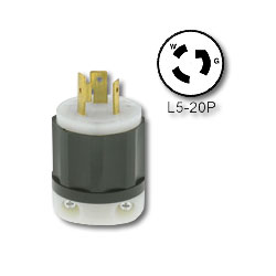 Leviton 20 Amp 125V Locking Plug