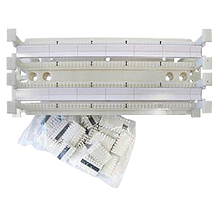 100 Pair Block with Legs, 20/C5 Connectors and Labels