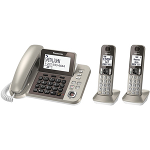 Corded Cordless Phone and Answering Machine with (2) Cordless Handsets