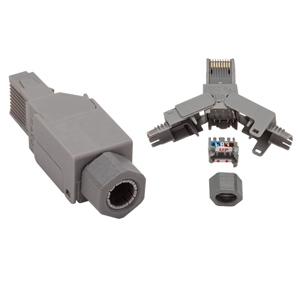 CAT 6A UTP 10G Plug 8C Round Cord