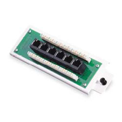 Leviton Cat 5e Voice and Data Distribution Module 6-Port with Bracket