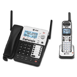 AT&T SynJ 4-Line Corded/Cordless Small Business System with Extendable Range and Push-to-Talk Intercom