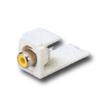 Mini-Com RCA Solder Type Module - Yellow Insert (RoHS Compliant)