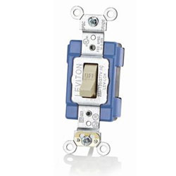 Leviton Lev-Lok 15 Amp 120/277 Volt Extra Heavy Duty Modular Industrial Grade Single-Pole AC Toggle Switches
