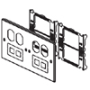 6000/4000 Series Four-Gang Overlapping Cover Two Duplex and Two Modular Furniture Openings
