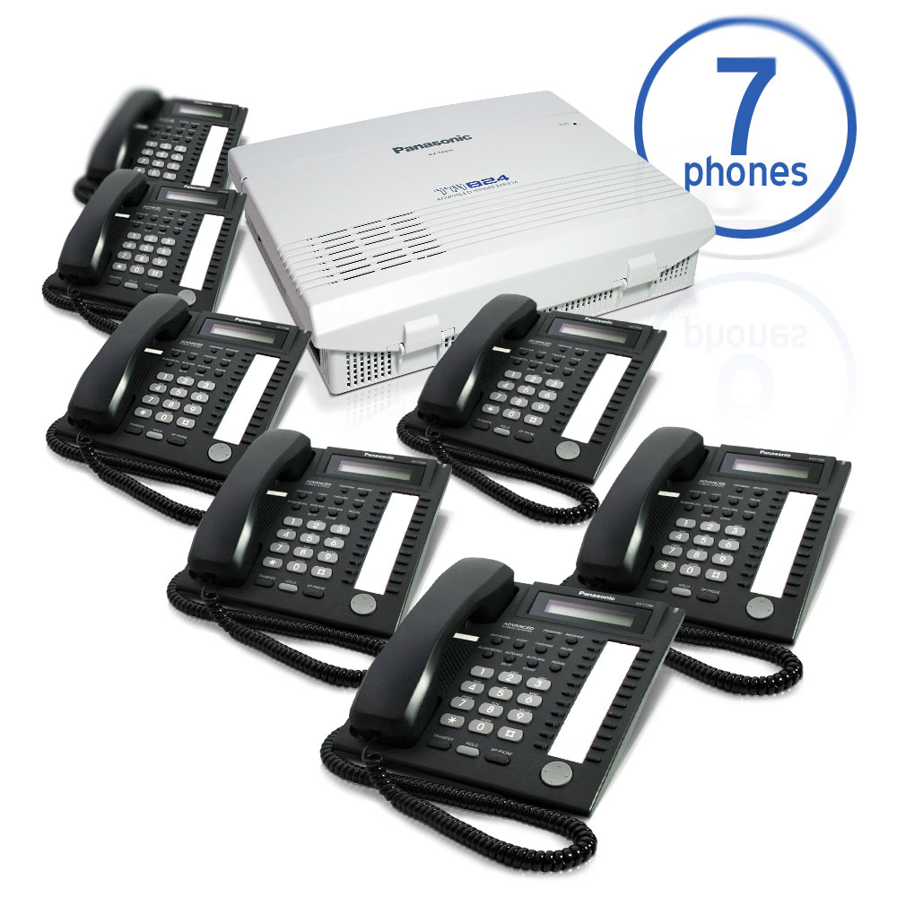 Panasonic KX-TA824 Phone System Bundle with (7) KX-T7731 Speakerphones