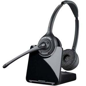 Plantronics CS520 Over-the-Head Binaural Wireless DECT Headset System