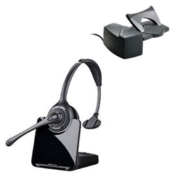 Plantronics CS510 Over-the-Head Monaural Wireless DECT Headset System with HL10 Lifter