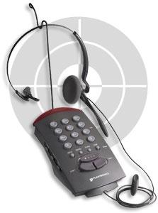 plantronics telephone headsets, phone headsets, plantronics T20, 2-Line headset phones