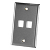 2 Port Single Gang Stainless Steel Faceplate