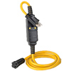 15A-120V Automatic Reset GFCI Molded-On NEMA Plug (5-15P) and Connector (5-15R)