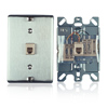 Stainless Steel Wall Phone Jack - Screw Terminals