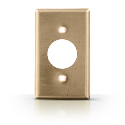 Metal 1 Gang Single Receptacle Wallplate