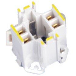 Leviton 10mm Compact GE Lighting Performance Biax 42W 4-Pin FluorescentLampholder 16 Ga. Panel
