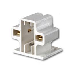 Leviton 10mm Compact Horizontal Screw-Down Fluorescent Lampholder