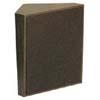 Dark Brown Cloth Grille Talkback Corner Speaker