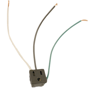 Leviton Snap-In Outlet 15 Amp 125V Single Receptacle