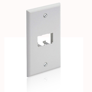 Panduit® Mini-Com Classic Series Faceplate accepts 2 Mini-com Modules