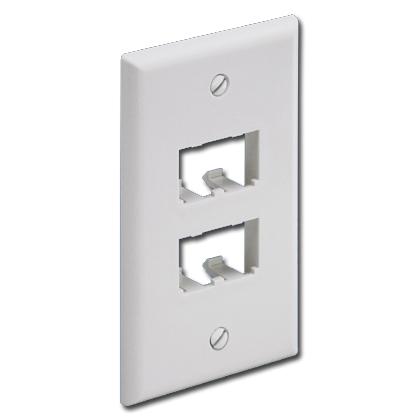 Panduit® Mini-Com Classic Series Faceplate accepts 4 Mini-com Modules
