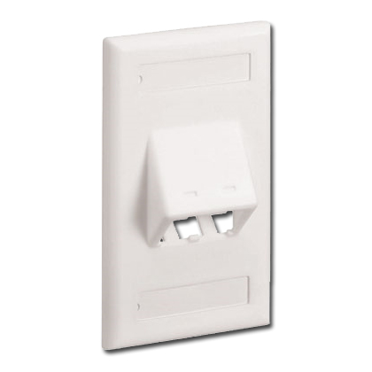 Mini-Com Classic Series Sloped Faceplate with Label and Label Cover (RoHS Compliant)