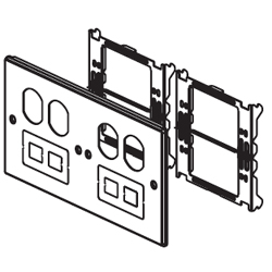 Legrand - Wiremold 6000/4000 Series Four-Gang Overlapping Cover Two Duplex and Two Modular Furniture Openings