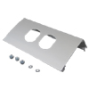 ALDS4000 Series Raceway Single-Channel Duplex Device Plate Fitting (Package of 10)