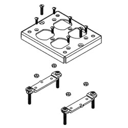 Legrand - Wiremold Walkerduct Pro Series Flush Carpet Plate with Double Duplex Opening