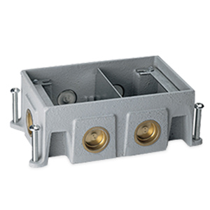 Legrand - Wiremold OmniBox Series Two-Gang Cast Iron Floor Box