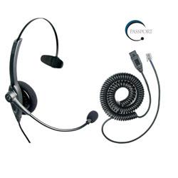 VXI Passport 10G Monaural Noise-Canceling Headset with QD1029G Headset Cable Bundle