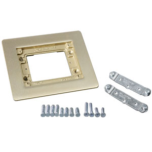 One Gang Brass Combination Carpet and Tile Flange