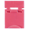 Colored Designation Shutters, Blank, Light Red (Package of 100)