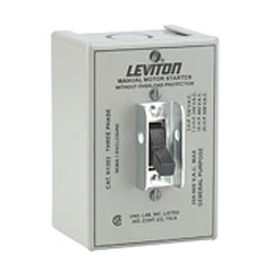 Leviton Three-Pole Manual Motor Starting Switch