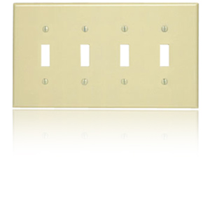 4-Gang 4-Toggle Wallplate