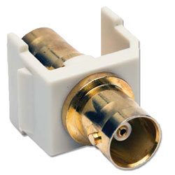 Hubbell Snap Fit Coaxial Gold BNC F/F Coupler