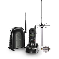 EnGenius DuraFon1X Long Range Industrial Cordless Phone System With 60' Outdoor Extended Range Antenna Kit