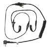 Temple Transducer Headset with Inline Push-to-Talk (PTT) Microphone