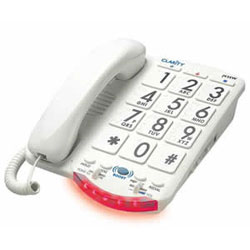 Clarity Amplifed Big Button White Key Phone