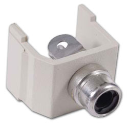 Hubbell Snap-Fit RCA Connector with Solder Coupler Termination